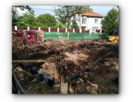 Начало строеж Къща Банкя